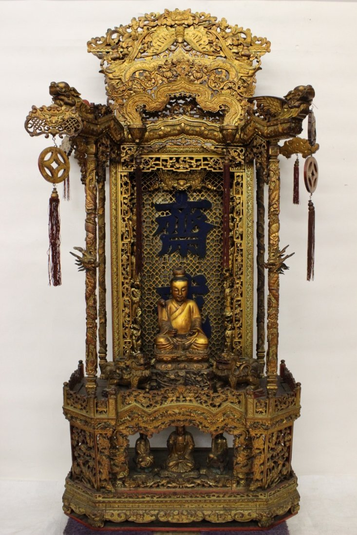 Magnificent Chinese antique temple shrine
