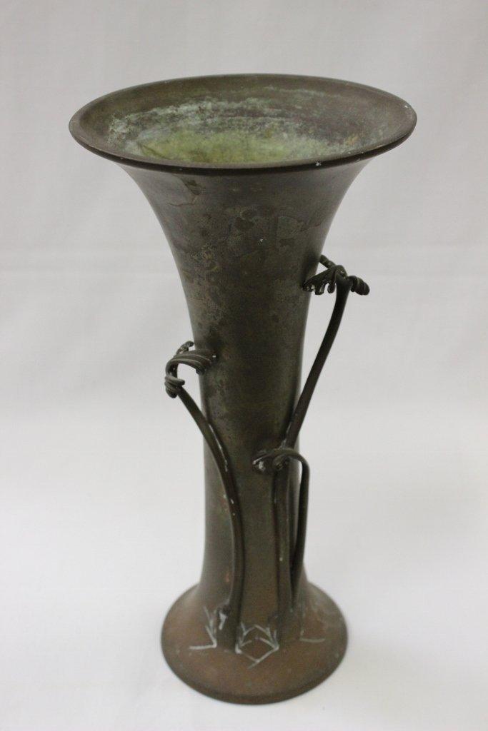 Art nouveau bronze vase