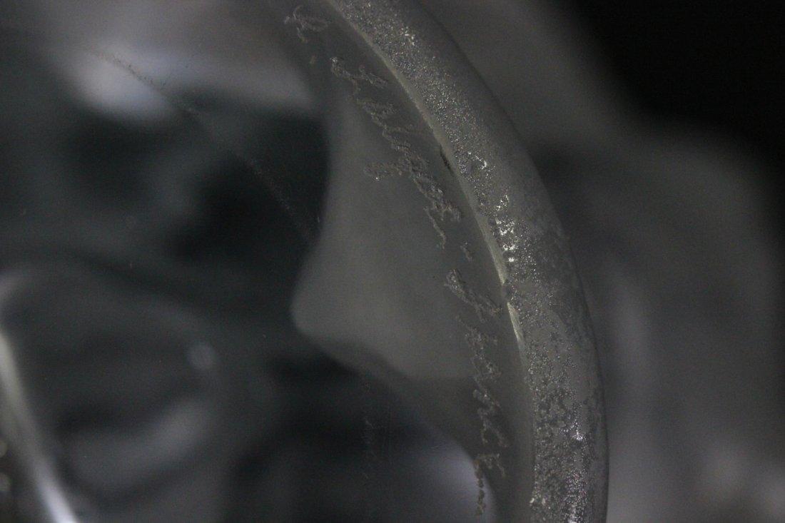 frosty crystal vase, signed R. Lalique - 10