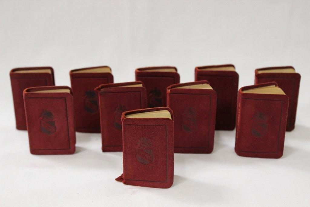 10 pocket leather bond books, c1904