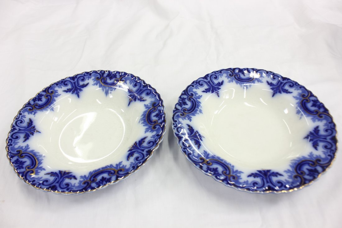 Partial set of Victorian flow blue china - 2