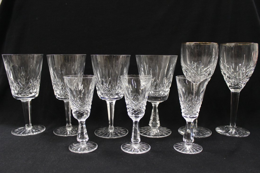 9 Waterford crystal wine goblets