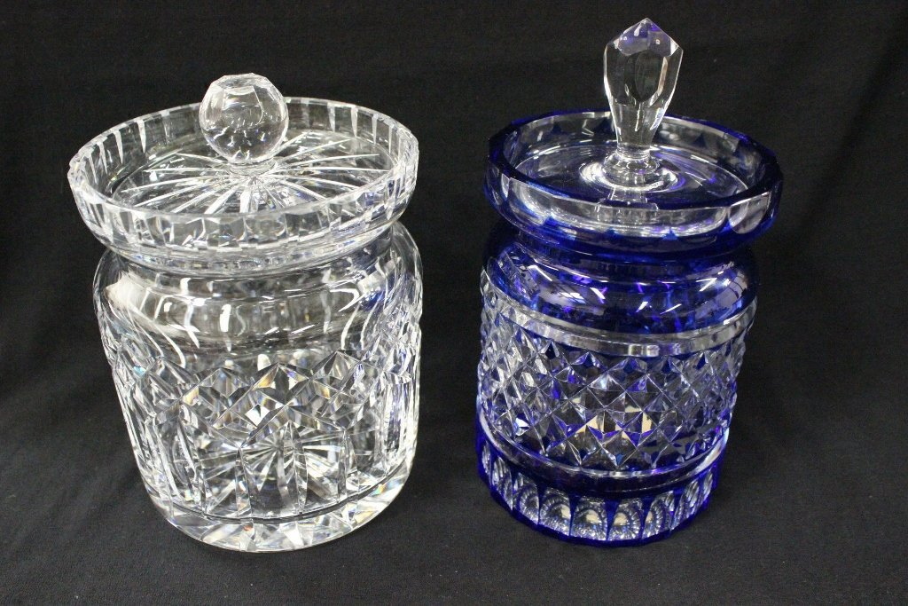 2 Waterford candy jars