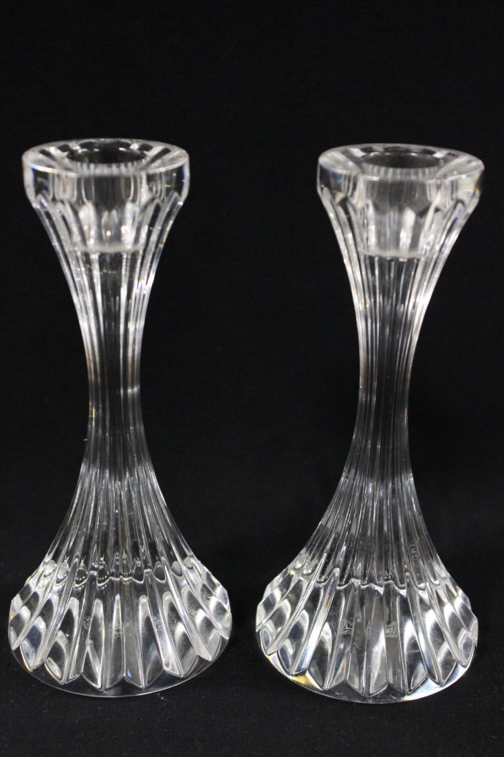 Pair Baccarat candle holders