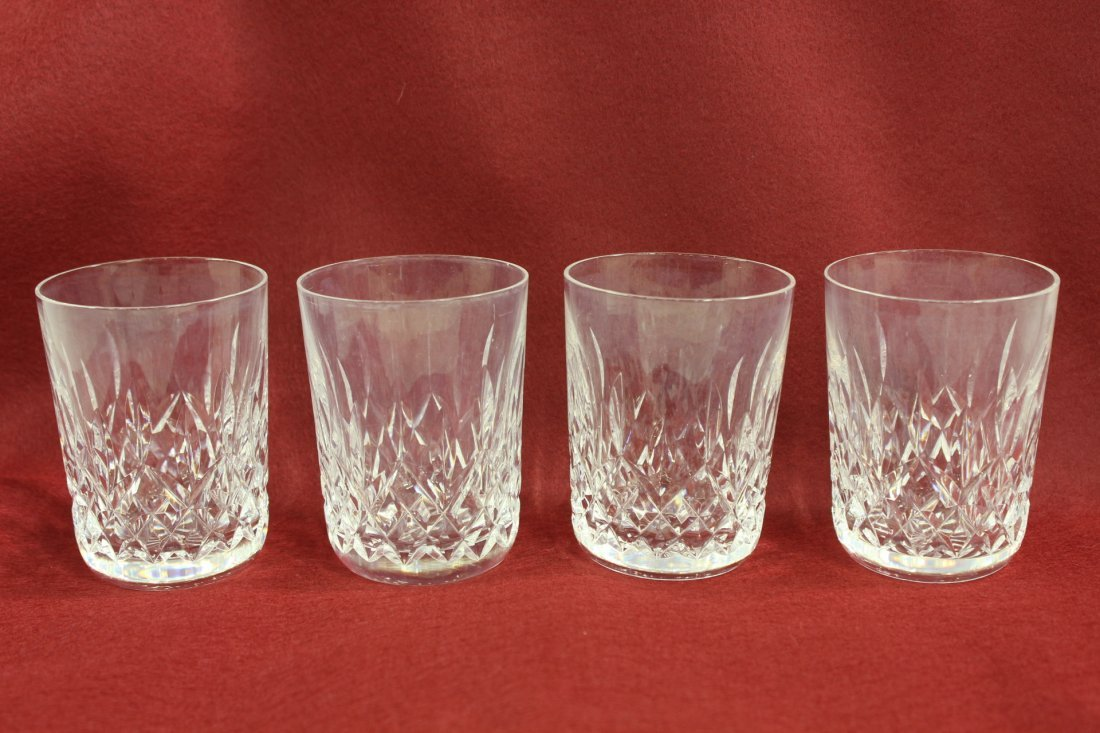 4 Waterford crystal waters in Lismore pattern