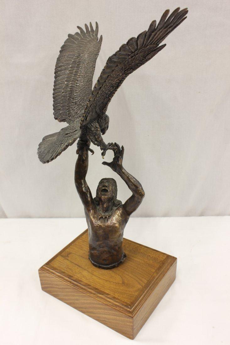 Bronze sculpture by American artist Wally Shoop