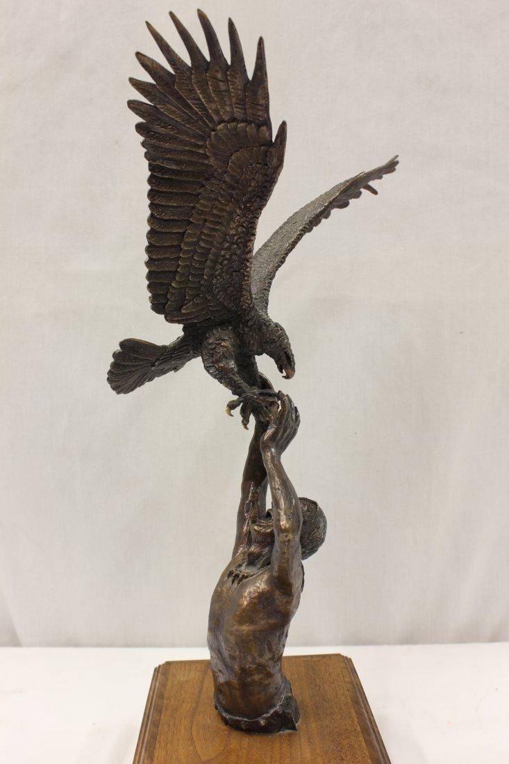 Bronze sculpture by American artist Wally Shoop - 2