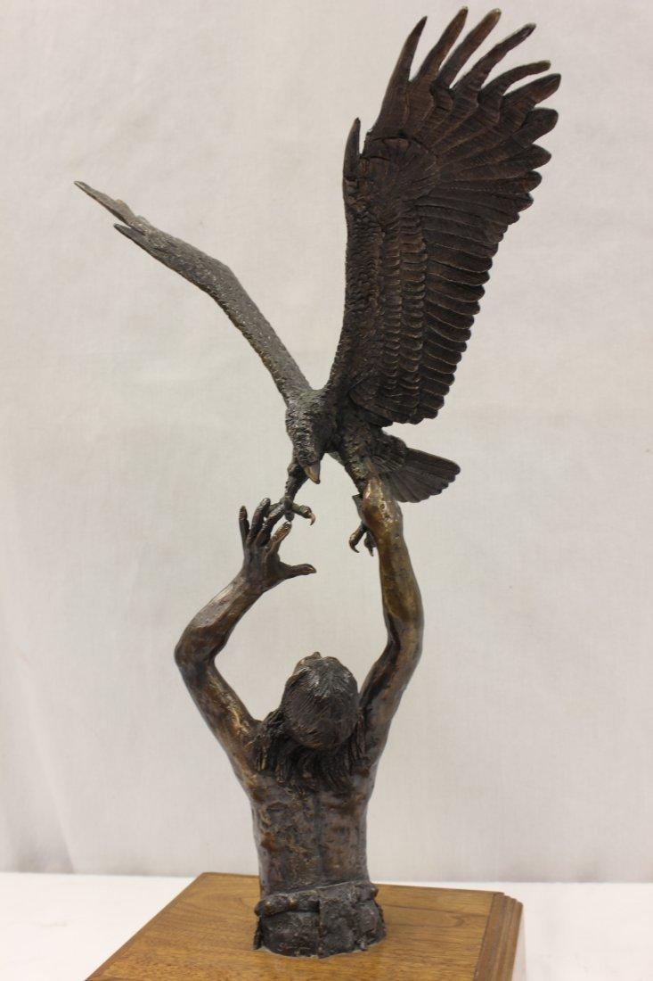 Bronze sculpture by American artist Wally Shoop - 3