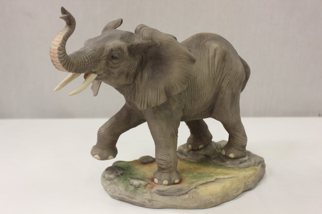 "Bisque sculpture ""African elephant"" by Boehm"