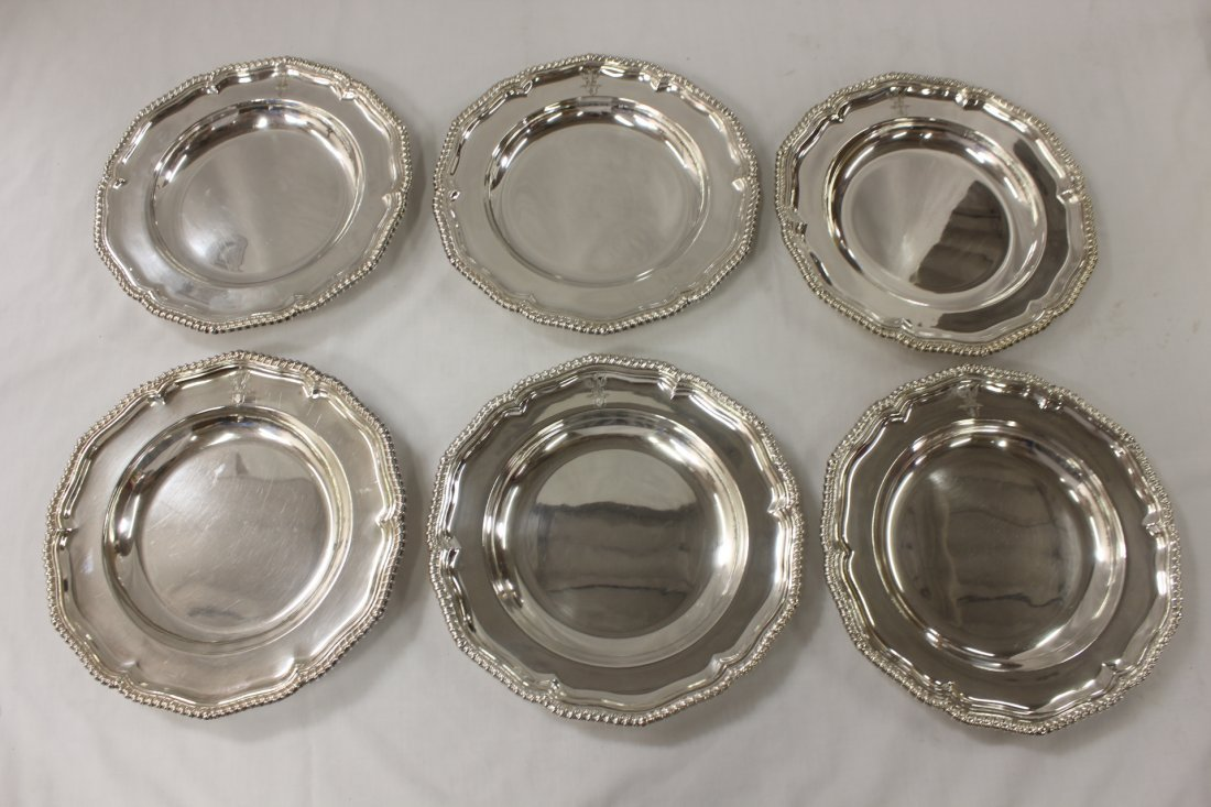 6 silverplate chargers