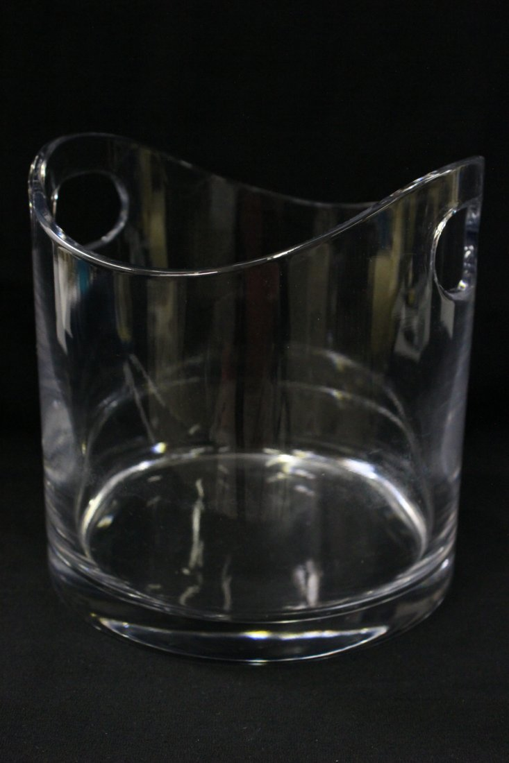 Crystal ice bucket by Tiffany & co.