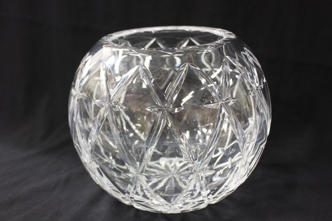 Large crystal rose bowl by Tiffany & co.