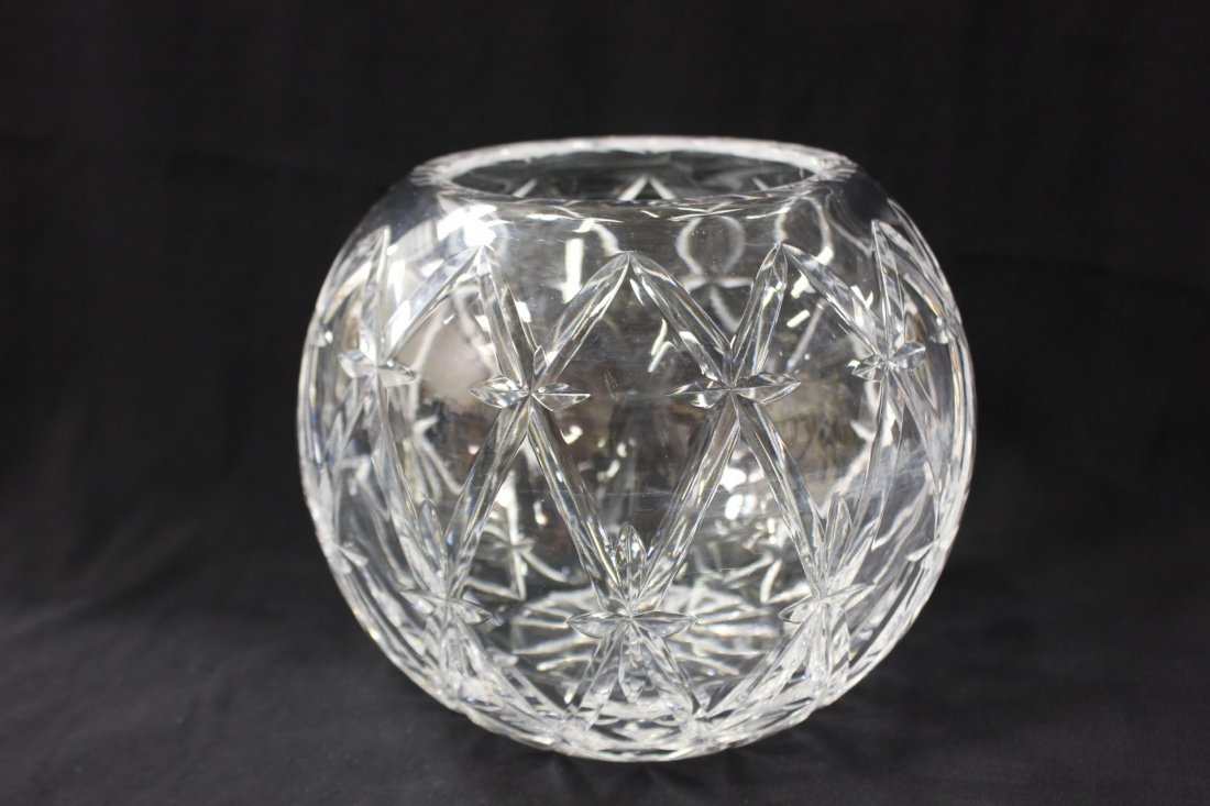 Large crystal rose bowl by Tiffany & co. - 2