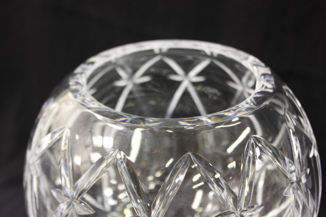 Large crystal rose bowl by Tiffany & co. - 3