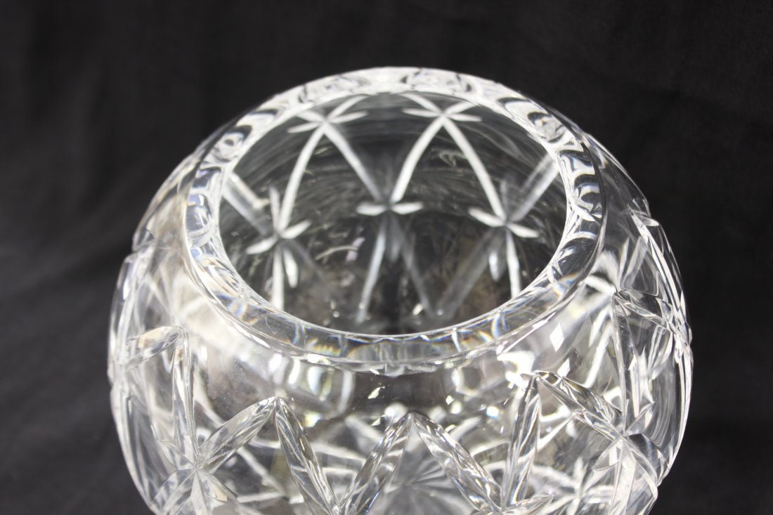 Large crystal rose bowl by Tiffany & co. - 4