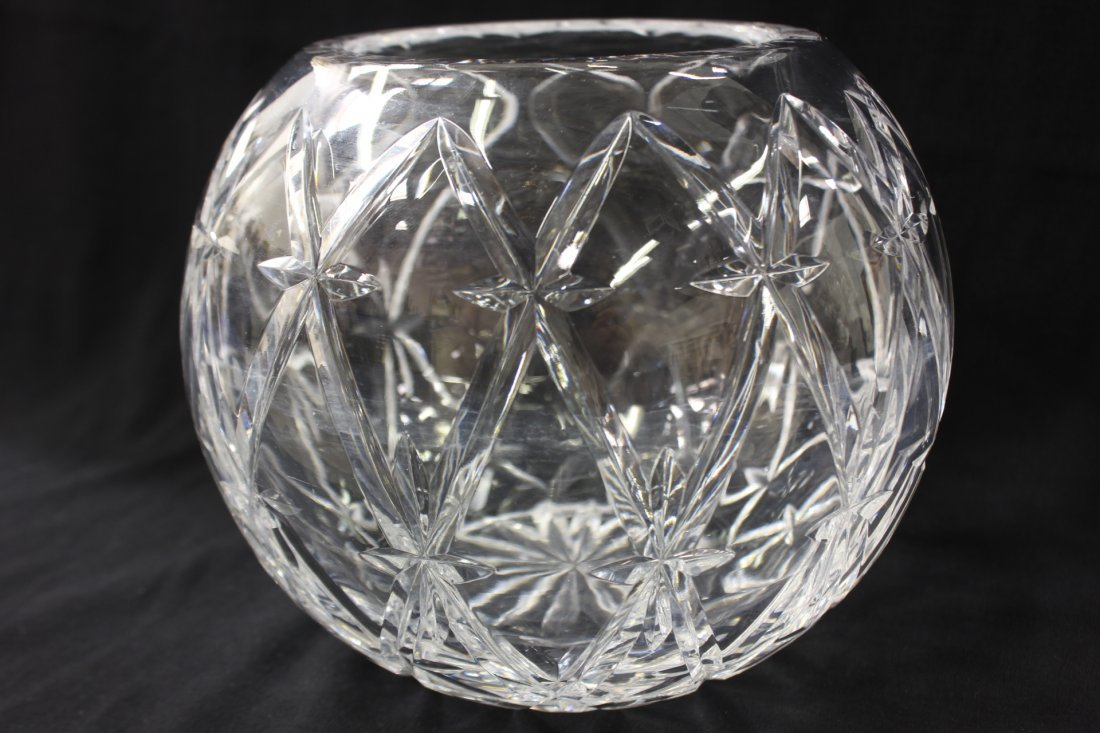 Large crystal rose bowl by Tiffany & co. - 5