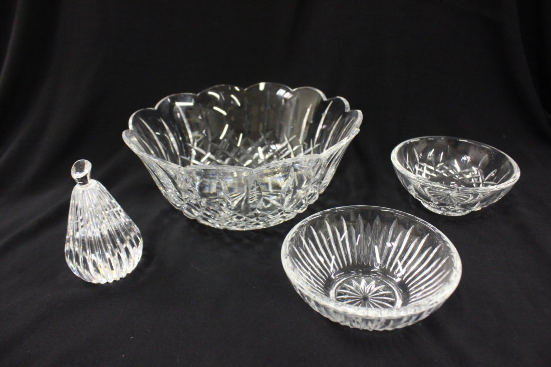 4pc Waterford crystals