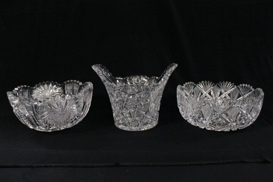 3 American brilliant cut crystals