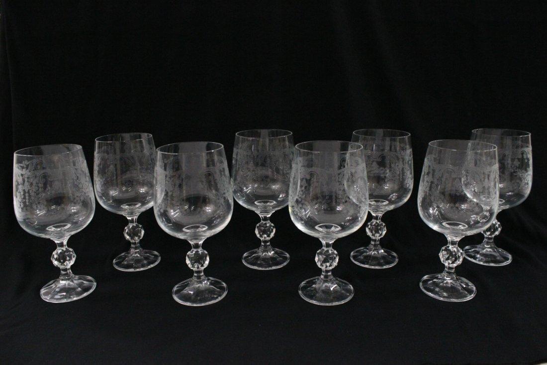 8 Fostoria crystal wine goblets