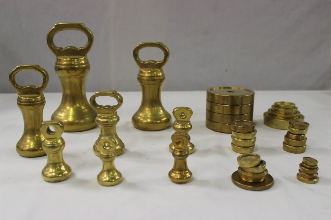 Lot of English antique weights, approx. 33pc