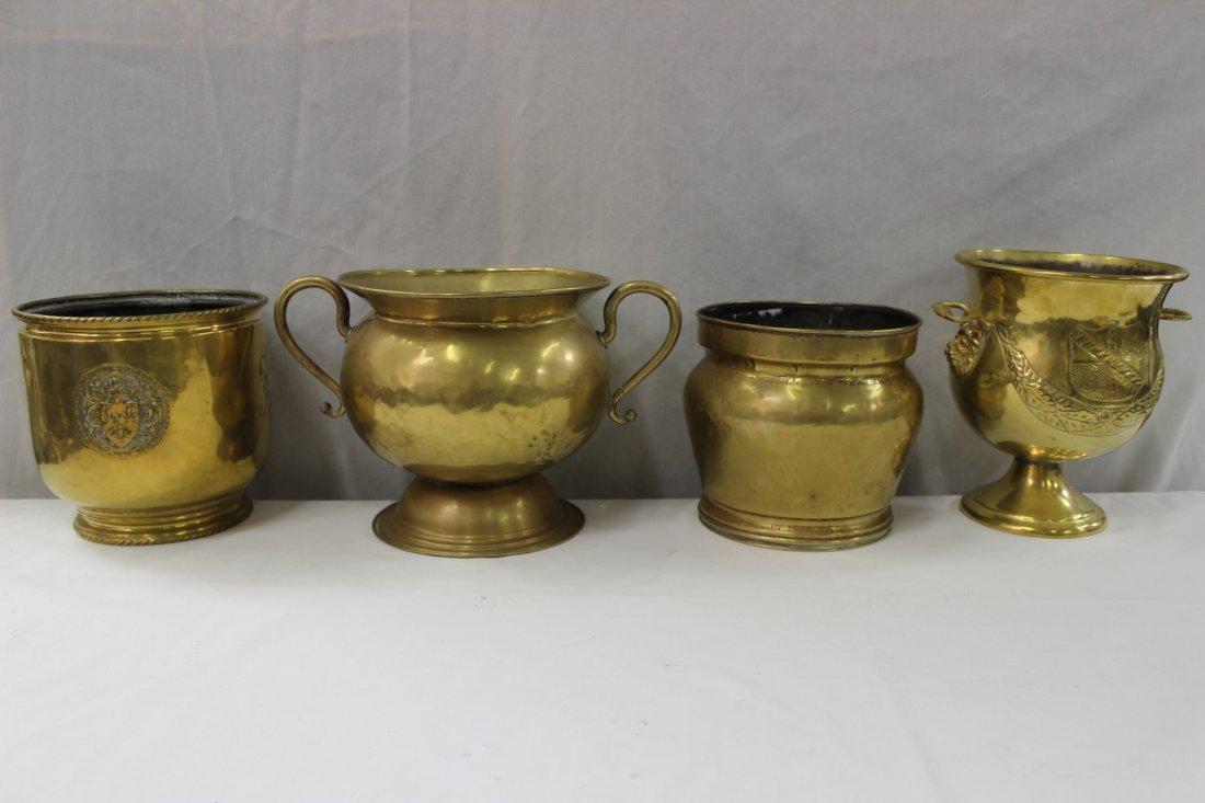 4pc English antique brass