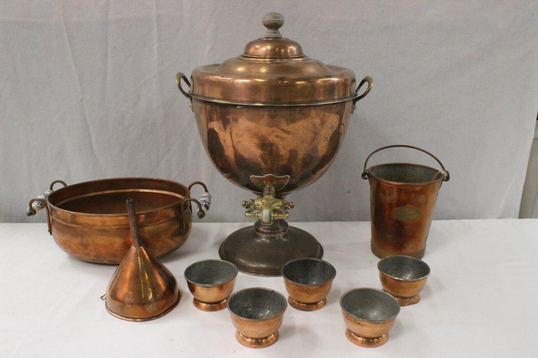 9pc antique copper