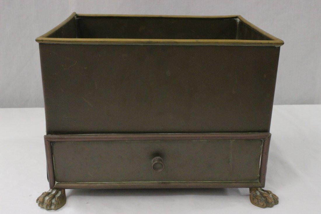 rare antique copper cigar & cigarette waste bucket