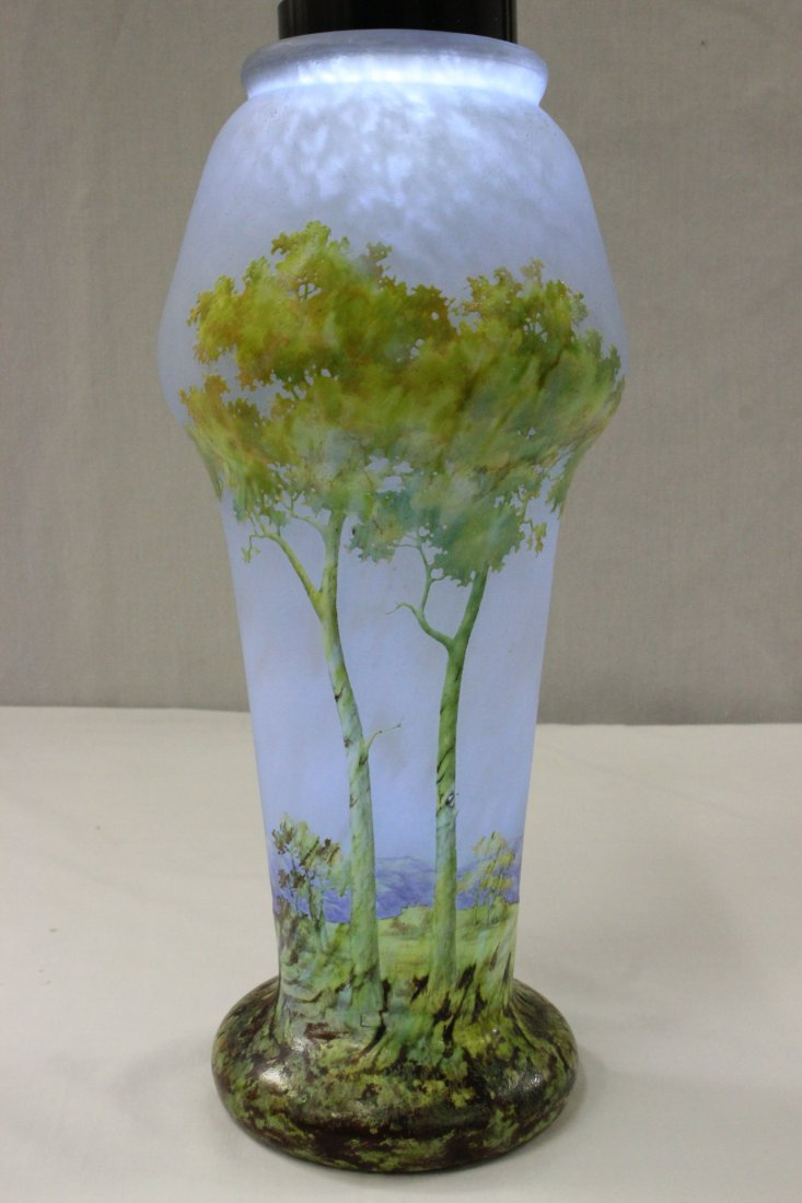 early Daum Nancy overlay art glass vase