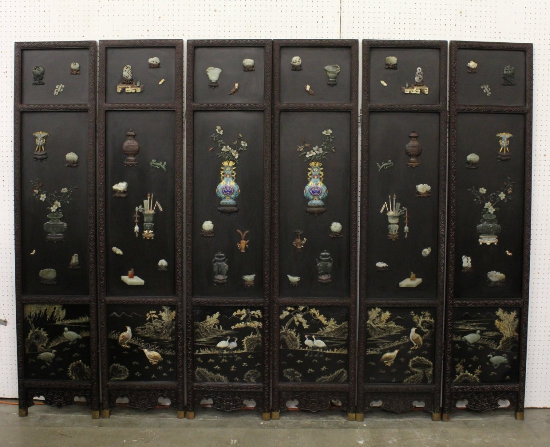 highly important Chinese vintage room divider