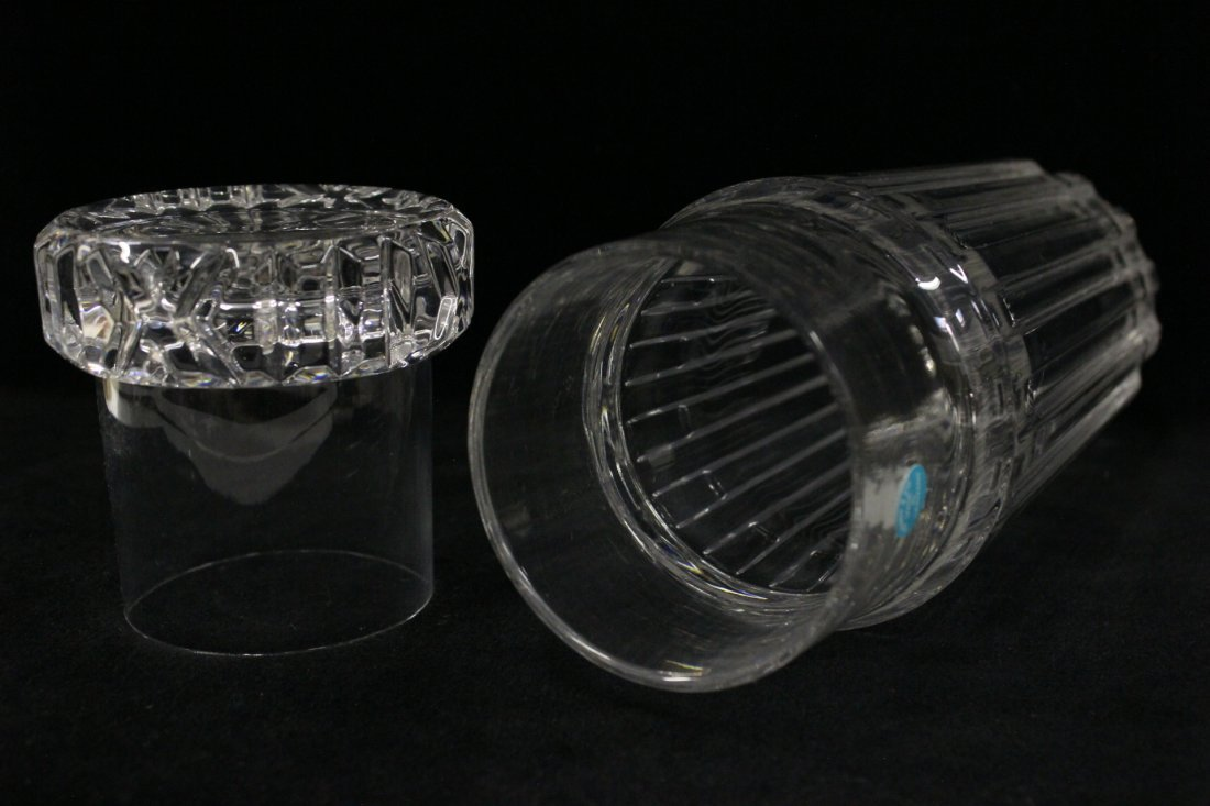 Crystal water decanter with water cup by Tiffany - 7