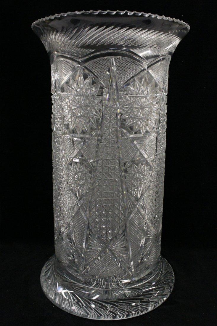 A fine cut crystal umbrella stand
