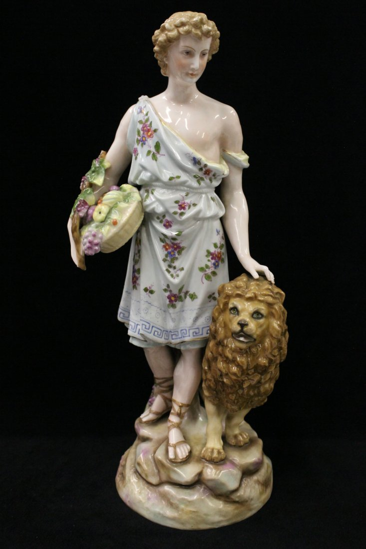 Antique Dresden figurine signed R.W.