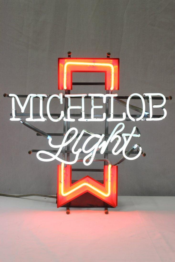 A vintage Michelob neon light advertisement