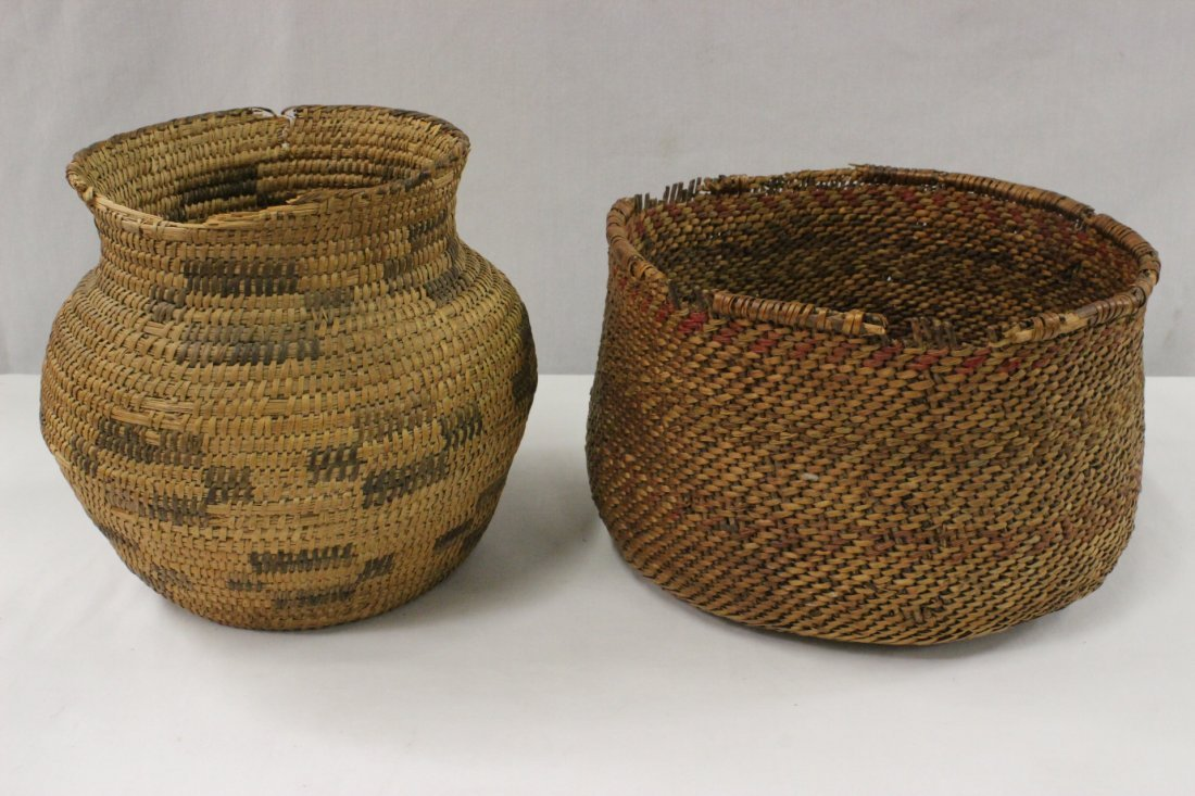 2 American Indian baskets