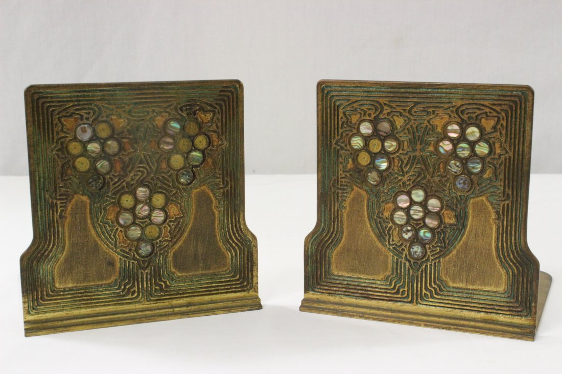Pair bronze bookends by Tiffany & co.