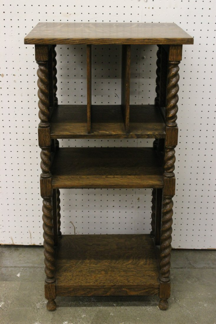 oak Canterbury, signed Stickley Brothers