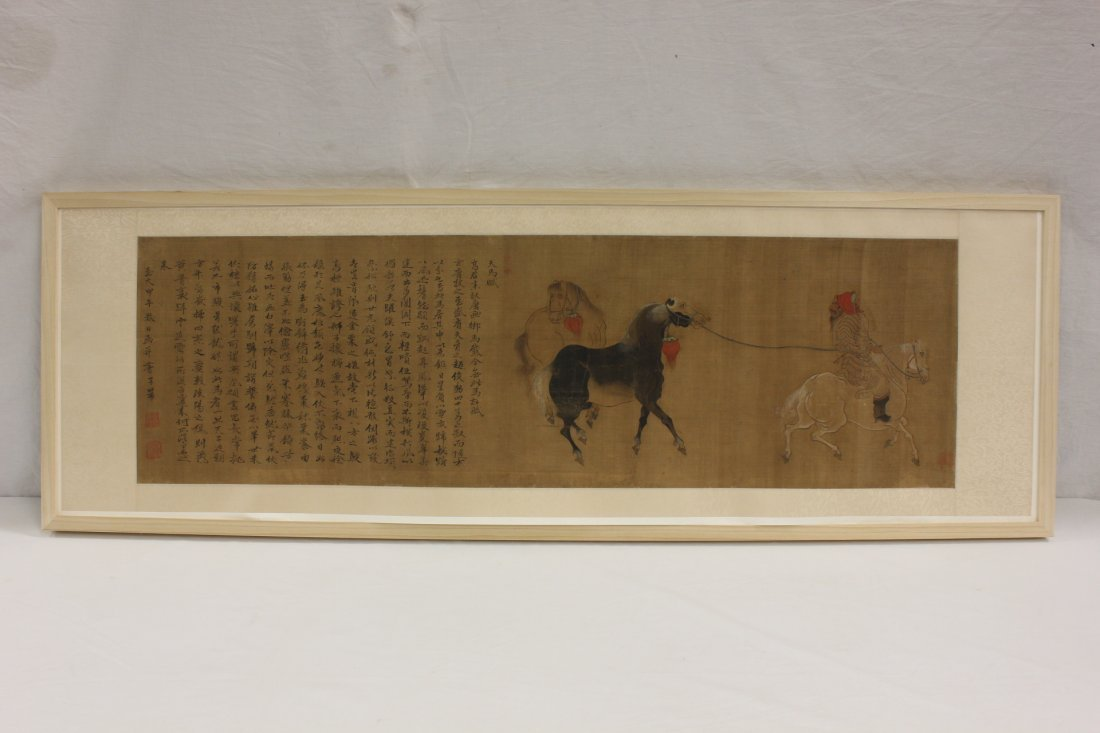 An important Chinese w/c attributed to Zhao Meng Fu