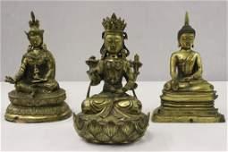 3 brass sculpture of Buddha