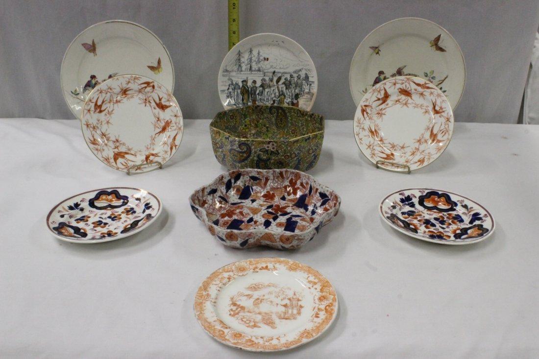 10pc antique English porcelain
