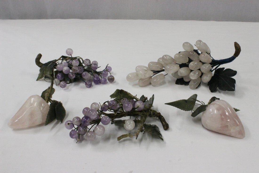 5 Chinese semiprecious stone fruit