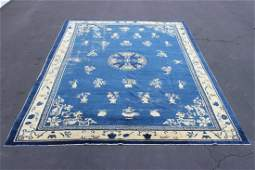Room size Chinese antique Peking rug