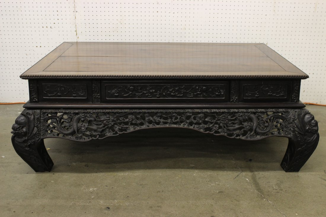 An important Chinese antique rosewood low table
