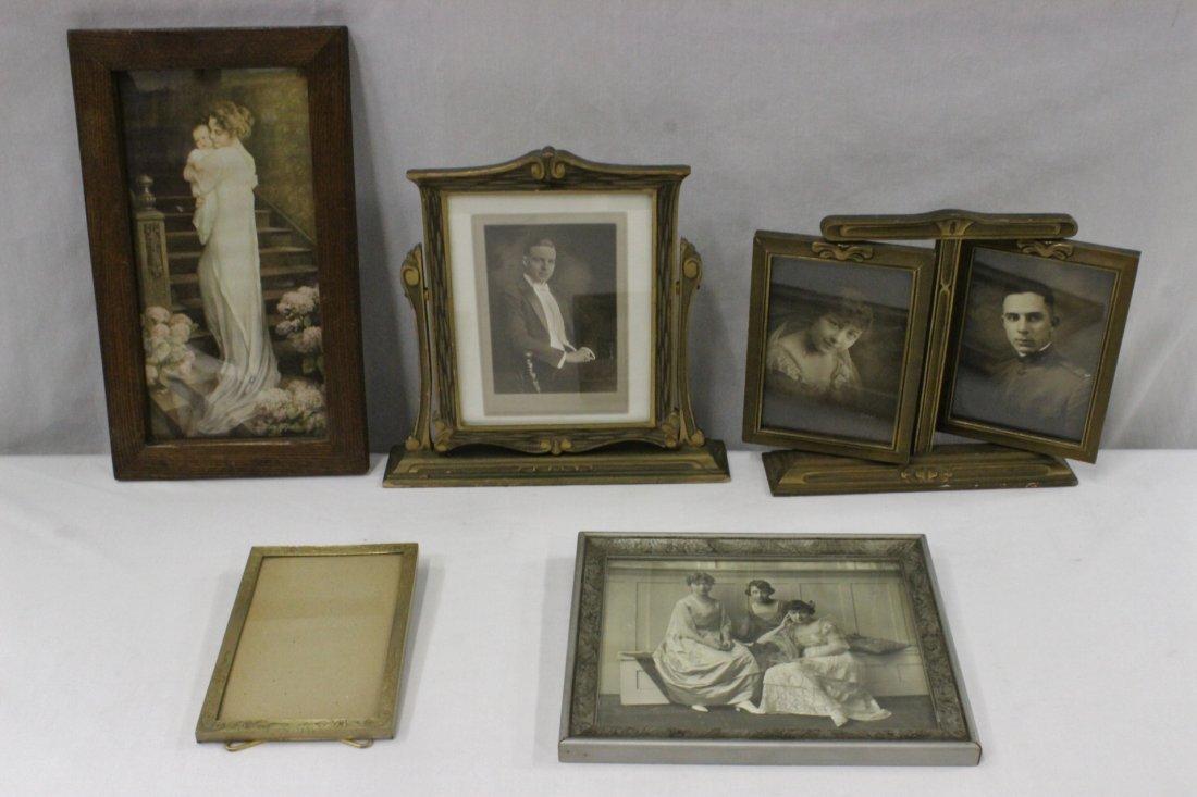 5 vintage picture frames