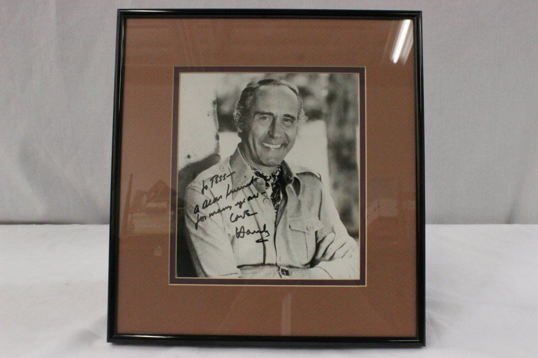 A rare signed w/dedication photo of Henry Mancini
