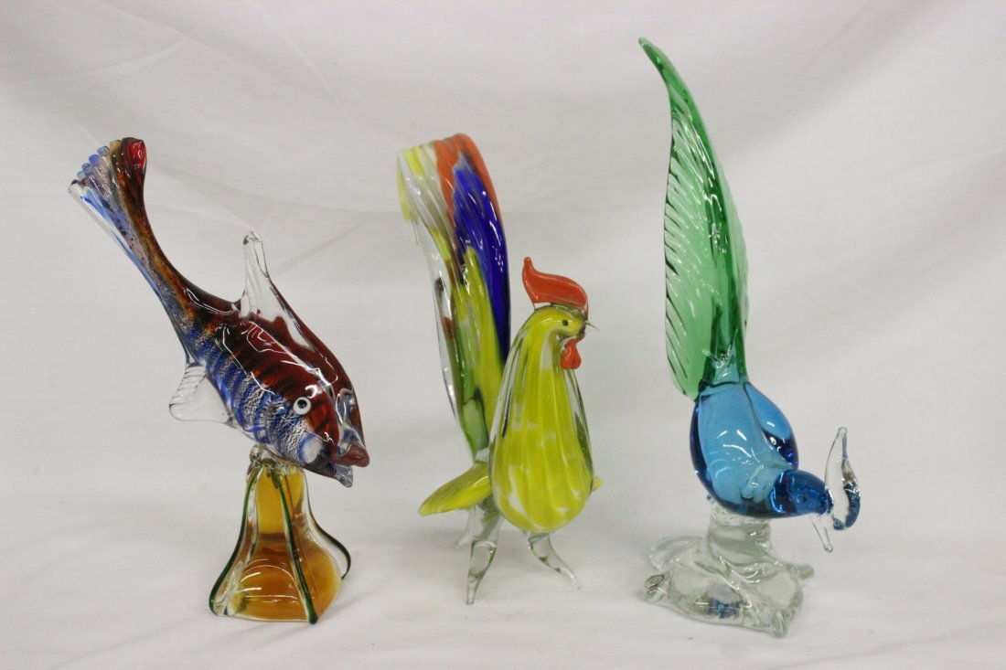 Lot of Murano/Venetian glass birds and items - 2