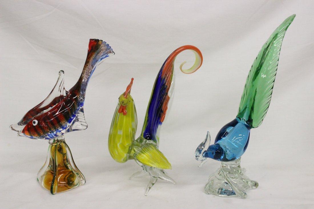 Lot of Murano/Venetian glass birds and items - 3