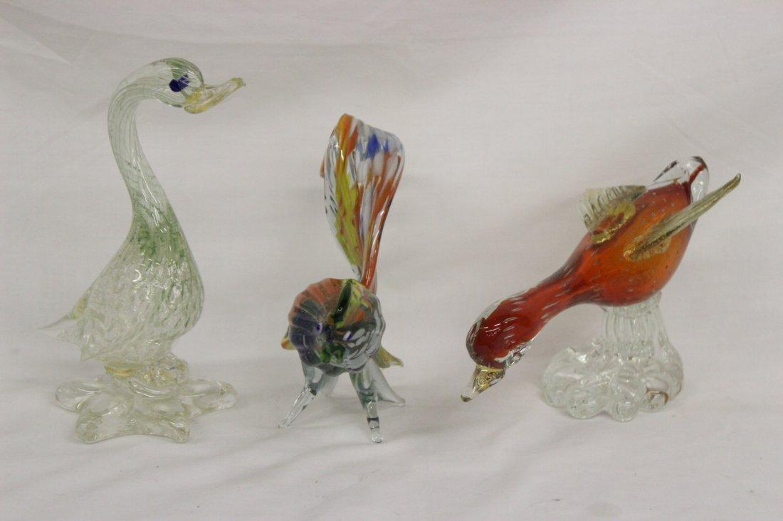 Lot of Murano/Venetian glass birds and items - 7