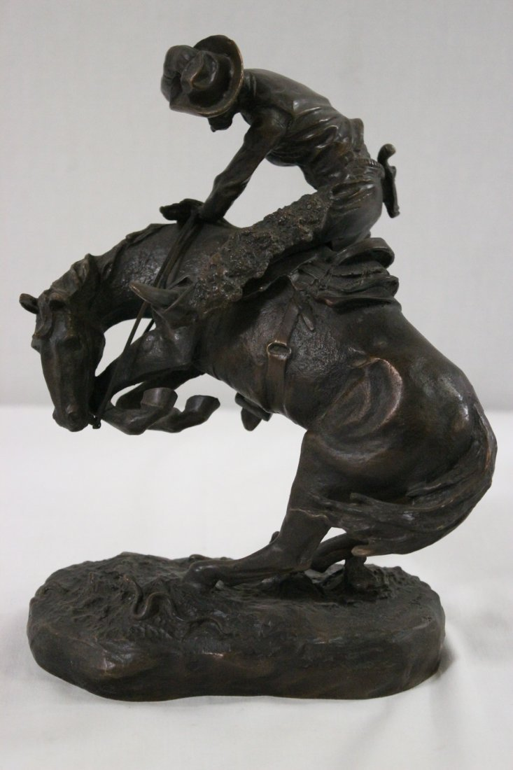 "Re-issue bronze statue ""Bronco buster"""