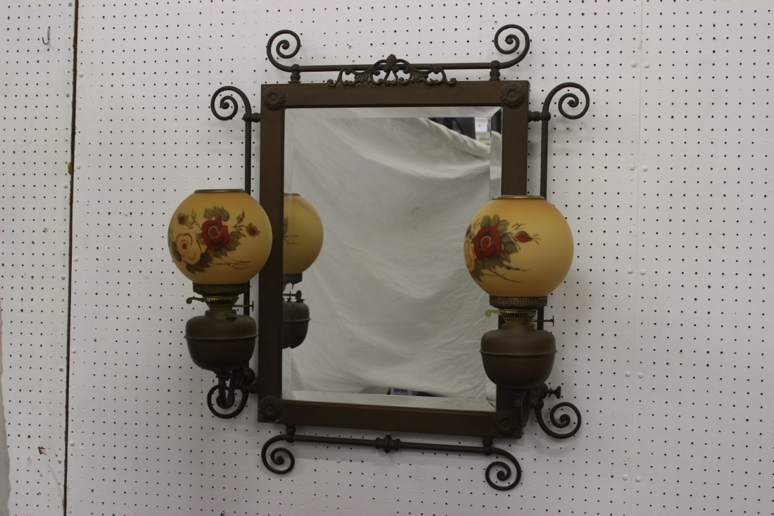 A beautiful Victorian brass wall mirror