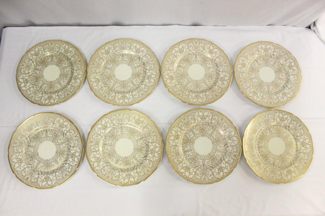 8 Bavaria gilt porcelain plates